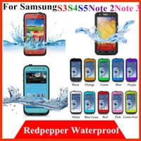 Cheap Note 3 waterproof Cover Best redpepper case samsung S5