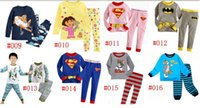 baby girls sleepwear - Long Sleeve Kids Pajamas Sets Baby Clothing set Boys pijama Girls pyjamas Cotton Design Sleepwear Retail New Hot