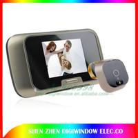 Wholesale 2 quot Night Vision LCD Video recorder Digital Door Viewer Peephole Door bell Door Camera Photo DVR