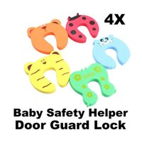 Wholesale 4pcs Baby Helper Safety Door Stop Finger Pinch Guard Lock E5M1