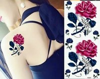 Wholesale Sexy TemporaryTattoos Transfer Tattoo Hot Sale Rose Flowers Body Temporary Tattoo Sticker Water Transfer Tattoo choose style