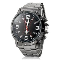 Wholesale High quality fashion CHINA Men s master Dress Watches Big Numeral Dial Adjustable steel band any business and casual attire