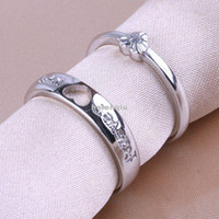 Wholesale 925 Sterling Silver Rings Diamond Ring Love Couple Ring Opening Creative Fashion Rings Forever Love