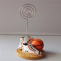 basketball wedding favors - Small Wholesales Basketball Design Sports Themed Place Card Holder Favors