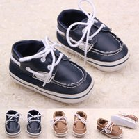 Wholesale New Boys Shoes Children Casual Toddler Boy s Shoes Kdis Boy Antiskid First Walker Shoes Cute Infant Baby Shoes Blue Coffee A3536
