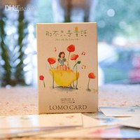 Wholesale 28 Cartoon Cute Lovely Fairy Tale Childhood Lomo Mini Paper Boxed Set Greeting Birthday Cards Kids Gifts for friends
