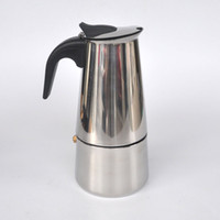 Wholesale Stainless steel Moka espresso mocha coffee pot home mocha pot servings Moka Stainless steel