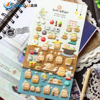 Wholesale Pack Gamja Sponge Bubble D Stickers Decoration Label Multifunction Funny Gift
