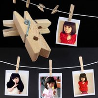 Wholesale 50 MM Useful Mini Wooden Clothes Photo Paper Peg Clothespin Craft DIY Clips F13003