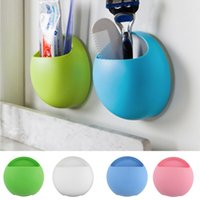 Wholesale Newest New Toothbrush Holder Bathroom Kitchen Family Toothbrush Suction Cups Holder Wall Stand Hook Cups Organizer Hot