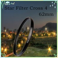 filter - 62mm Lens Star Filter To LC Cross x pt Point For Nikon For Canon EOS For Sony NEX Brazil Russia