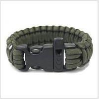 beaded travel - Men Self rescue Paracord Parachute Cord survival Bracelets Whistle Buckle life saving bracelets Survival Camping Travel Kit G2K