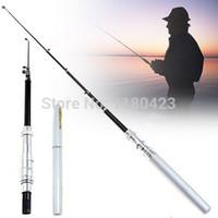 Wholesale Pen Shape Mini Portable Pocket Aluminum Alloy Fishing Fish Rod Pole Reel Line