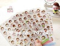 baby korean names - Free ship set pc as a Baby Name Korean cute girl cartoon pvc stickers momoi transparent decorative labels