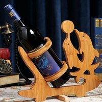 Wholesale Best Quality Wine rack Natural Bamboo Bottle Shelf Unique Design New Arrival for Sale EB