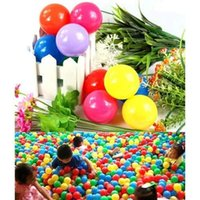 baby soft toys wholesale - 100pcs Eco Friendly Colorful Soft Plastic Tent Water Pool Ocean Wave Ball Baby Funny Toys cm