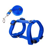 Wholesale URBAN PAWS Pet Product for Dog Harness New Pet Dog Nylon Pet Puppy Dog Solid Color Harness and Leash Design