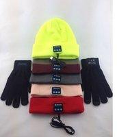 garden gloves - winter Unisex Women Men MP3 Bluetooth Skull Beanie Hat Winter Fall Warm Cap with bluetooh gloves player