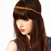 Wholesale Leather Hair Accessories CF049