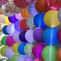 20cm 8inch lanternes suspendues 8 '' de mariage de plage 9colors lanterne de papier chinois style japonais pendentif abat-jour Patio Décorations
