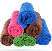 Wholesale Square Luxury Soft Microfiber Fiber Cotton Face Hand Car Cloth Towel cm House Cleaning cm