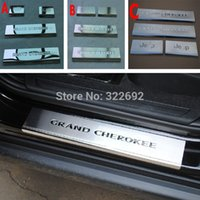 2014PT0U7 auto door sill guards - 4 Auto Door Sill Guard Plate Stainless Steel For Jeep Grandcherokee