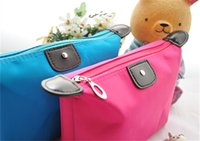 Wholesale New candy Cute Women s Lady Travel Makeup Bags Cosmetic Bag Pouch Clutch Handbag Casual Purses Dumpling type cosmetic gift purse
