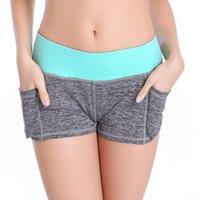 Wholesale 2015 New Women Sports Yoga Shorts Cotton For Jogging Running Gym Fitness Yoga Short Women Gray M L PC