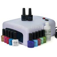 arte base - Hot Sale Arte Clavo ml ANY Colors W UV Lamp Top Base Coat Cleanser Plus Soak Off UV Gel Polish Nail Art Set