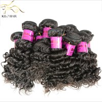 Wholesale 100 Virgin human hair extension deep wave hair weave Brazilian Peruvian Indian Malaysian Russian Cambodian remy curly hair weft inch