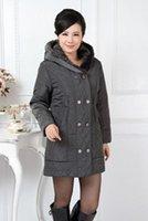 women winter warm long jacket - New arrival Wadded Jacket Winter Plus Size Woolen Outerwear Long Jackets Coat Women Warm Clothes Cotton Black Gray