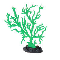 Wholesale New Pet Supplies Aquarium Accessories Ornaments Artificial Coral Tree Green Plant Fish Tank Aquarium Decoration with Sucker order lt no trac