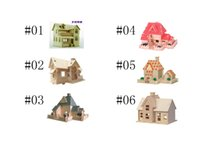 Wholesale Rio s cottage farm house D Puzzle dimensional wooden model games cube jigsaw DIY wooden Intelligent Construction kit Educational toy