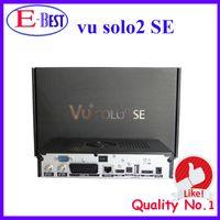 Cheap 2pc lot vu solo 2 se Original Software twin tuner Satellite Receiver Linux 1300 MHz CPU Mini Vu solo2 free shipping