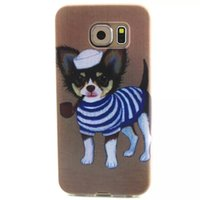 apple puppy - 10PCS New Quality Stylish Smoking a pipe puppy Scratch Resistant TPU Phone Case For Samsung S3 S4 S5 S6 S6Edge iPhone S S C