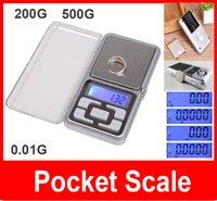 venta al por mayor Mini Digital Electronic 500g 200g / 0.01g joyería de la escala del bolsillo de Peso con caja al por menor el envío libre