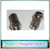 av connector types - High quality RG6 F Type Coaxial RF AV Signal Cable Connector TerminalsPlugs cable tv wire connectors