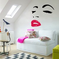 Wholesale Sexy Woman Wall Decal - Sexy woman AUDREY HEPBURN Wall Art Stickers Decal DIY Home Decoration Wall Mural Removable Room Decor