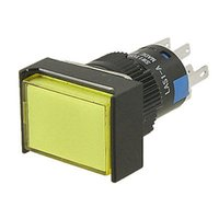 Cheap Yellow Button AC 220V Momentary Contact Push Button Switch w Lamp order<$18no track