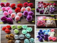 achat en gros de tissu rose têtes-Soie entrouverte Camellia 100pcs Diamètre Rose Fleur Heads Tissu pivoine Fleurs pour mariage Parti Décoratifs Fleurs Centres