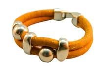 Cheap Portugal Pulseras Cork jewelry bracelets Two cork bracelet, wood color bracelet, alloy beads, simple and stylish, handmade