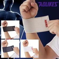 Wholesale Hot Sell piece sport cotton elastic bandage hand wristband support wrist brace wrap fitness tennis sweat band cm cm Q034
