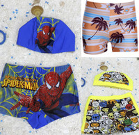 Wholesale Comined Styles New Kids Swimwear Beach Swimsuit Trunks spide man Bathing Suits Baby Swim Trunks Children Boys Swimwear Sets Beachwear
