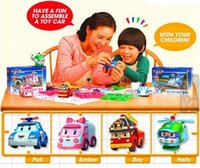 Wholesale Robocar Poli Helly Roy Ambe Deformation Car South Korea Thomas Toys DIY Products Learning Education Baby Toy