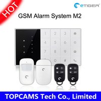 Wholesale Etiger M2 GSM touch screen home security alarm system GSM smart burglar security alarm system work with ios android app