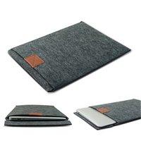 Wholesale Best Price Beautiful Design quot Envelope Laptop Sleeve Case Bag Woolen Felt For Apple For Macbook Pro Air Deep Grey