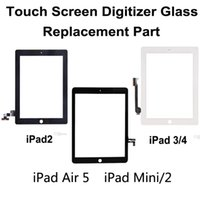 Wholesale iPad Air Mini Retina Touch Screen Glass Panel Digitizer Assembly Front Lens Without Home Button Replacement Part White Black DHL