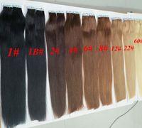 achat en gros de colles d'extension de cheveux-Top qualité 50g 20pcs Glue 25pcs peau Trame PU bande de cheveux humains extensions 18 20 22 l'extension 24inch de cheveux indiens du Brésil