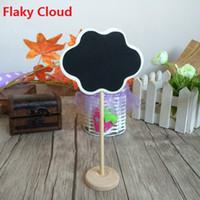 Wholesale NEW Zakka Vintage creative Flaky clouds Design wooden Blackboard For Wedding Party Decorations chalkboards Message board