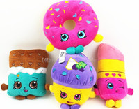 Wholesale 4pcs shopping plush toys cm Mini Muffin doughnut lipsticks Chocolate Stuffed Plush doll Toys